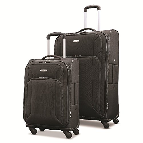 Samsonite Victory 2 Piece Nested Softside Set (21''/29''), Black, Only at Amazon by Samsonite