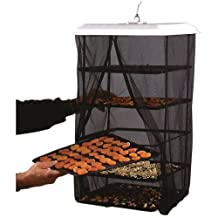 Food Pantrie Solar Food Dehydrator - Hanging Dehydration System - Non-Electric, Eco Friendly, Natural Way To Air Dry Foods, Fruits, Vegetables, Herbs, Jerky & More. 5-Tray Dryer (1) by Handy Pantry