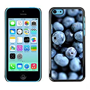 FECELL CITY // Duro Aluminio Pegatina PC Caso decorativo Funda Carcasa de Protección para Apple Iphone 5C // Blueberries Fresh Vitamins Healthy Forest