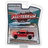 New 1:64 GREENLIGHT ALL-TERRAIN SERIES 6 COLLECTION - Red 2018 Chevrolet Silverado 1500 Pickup Truck Diecast Model Car By Greenlight