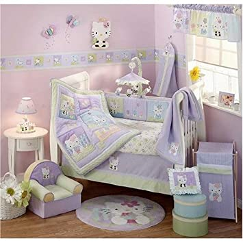 775554a90 Image Unavailable. Image not available for. Color: Hello Kitty & Friends -  6 Piece Crib Bedding Set