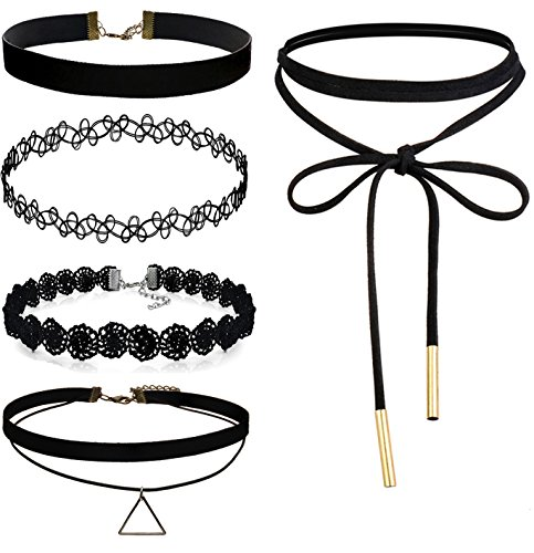 FIBO STEEL 5 9PCS Womens Necklace
