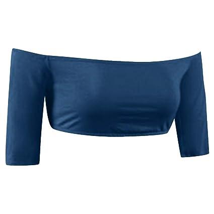 91848436138 Amazon.com  Allywit Women s Half Sleeves Twist Seamless Slimming ...