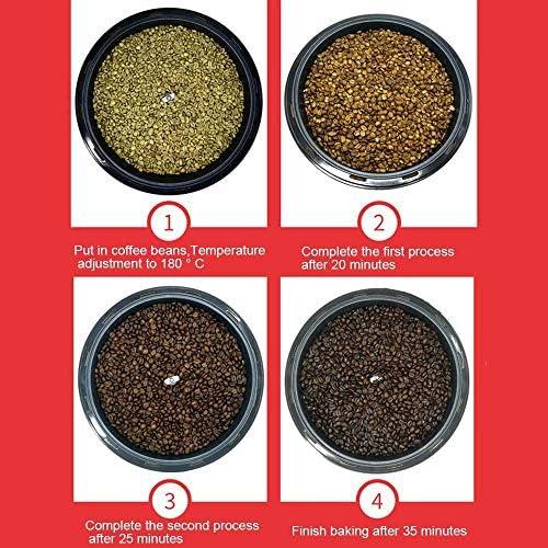 SEAAN Koffiebonen-rooster, automatische roterende koffie-rooster, 100-240 graden Celsius, koffiebonen soja-pinda-zaad, bakmachine