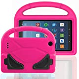 FUQUN Kids Case for Fire 7 2017 - All-New Light Weight EVA Shock Proof Handle Friendly Convertible Stand Kids Case for Amazon Kindle Fire 7 inch Display Tablet (2017 Release) Rose red
