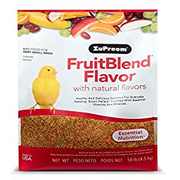 Zupreem Fruit Blend Diet for X-Small Birds, 10-Pound