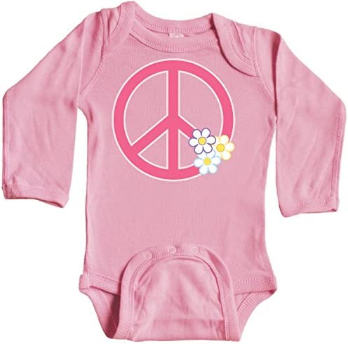 inktastic Peace Sign Cute Daisy Flowers Toddler Long Sleeve T-Shirt