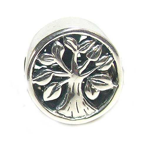 Queenberry Sterling Silver Tree Of Life Go Round Family Bead For European Charm Bracelets