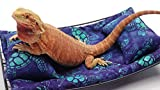 Chaise Lounge for Bearded Dragons, Sea Turtles fabric