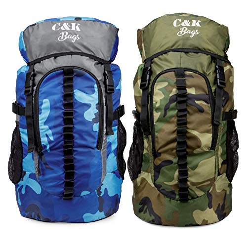 Chris & Kate Combo-Pack of 2 Pcs Multicolor Large Camouflage Rucksack Bag, Travel Backpack, Hiking, Trekking Bag, Camping Rucksack, Daypack Bag