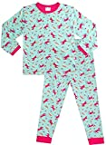 Cute Girl's Long Pyjamas All Over Unicorn Rainbow Long Pjs 5 to 11 Years (10-11 Years)