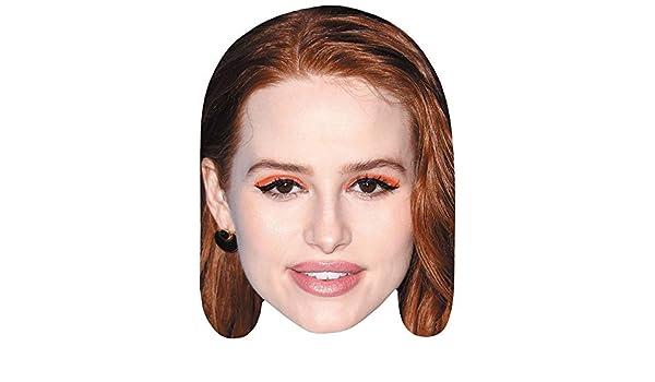 Card Face and Fancy Dress Mask Madelaine Petsch Celebrity Mask