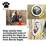 Pet Dog Fence Window - Peek Bubble - Durable Acrylic Dome Window for All Pets, Cats, Dogs, Chicken, Horses- Bonus Pet Christmas Holiday Season Pet Collars Bow Tie and Clip