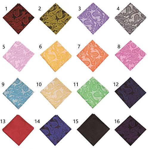 New Soophen Wholesale Lot of 10 Mens Woven Pocket - Mens Square Pocket New