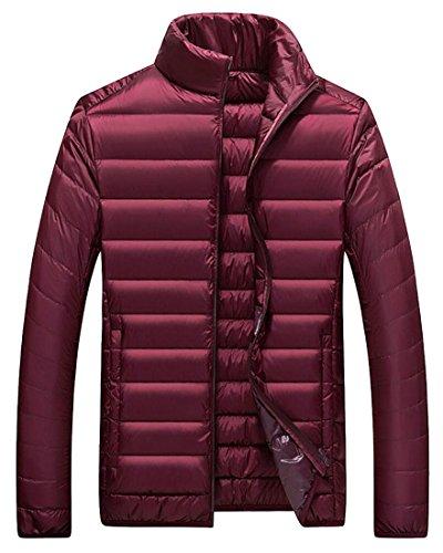 Winter Packable Gocgt Red Men's Lightweight Jacket Down Winter Coat Puffer xUwAwqT6P
