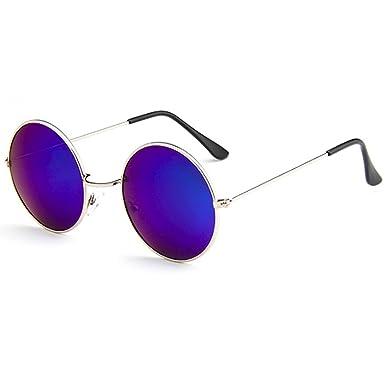 e15219ce8606 [FREESE] 丸型 サングラス 丸サングラス ラウンド型 ファッション丸メガネ UVカット 軽量