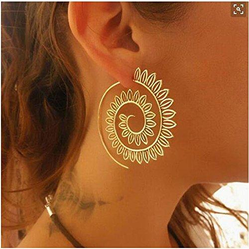 - Golden Helix Earrings Vintage Heart Shape Cuff Earrings for Women (4510)