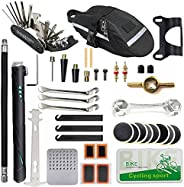 Beenlen Bike Repair Kit, Home Bike Portable Patches Fixes Tool with Bicycle Repair Bag & Bicycle Tire Pump