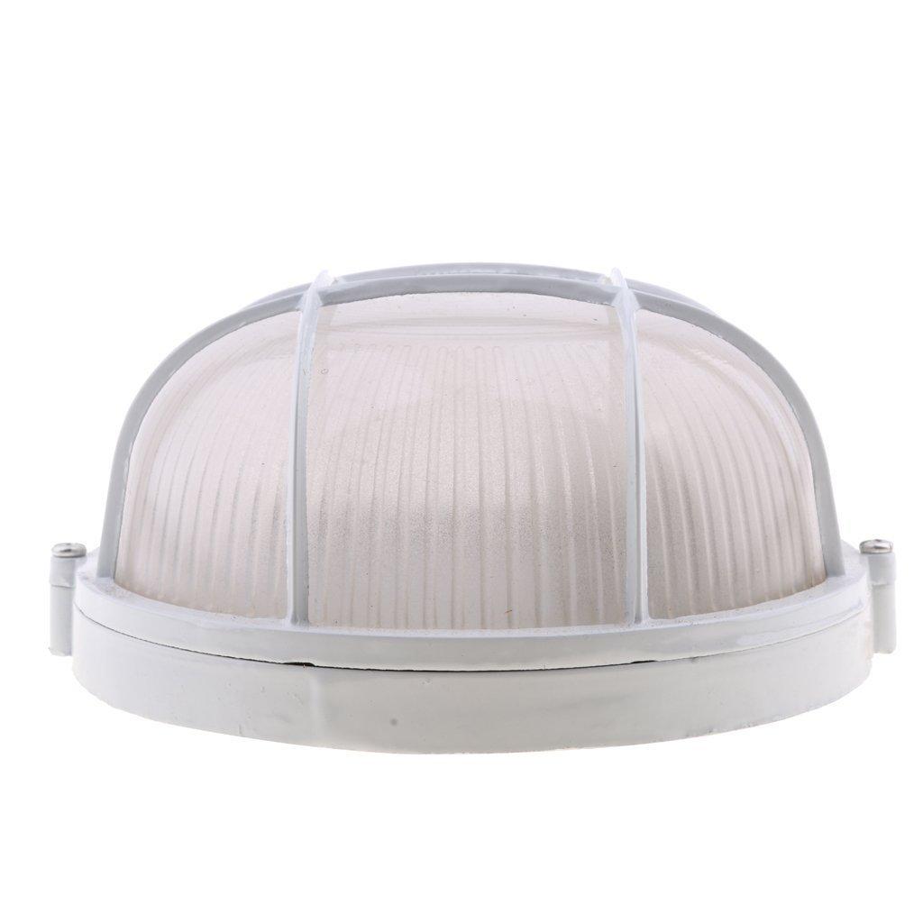 Sgerste Explosion Proof Vapor-proof sauna Vapeur lumière de la pièce Abat-jour Guard–Blanc, rond