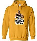 Silo Shirts GOLD Dusty Rhodes WWF Hooded Sweatshirt YOUTH