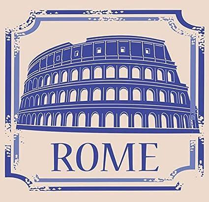 48d49fb1 Amazon.com: American Vinyl Vintage Travel Stamp Rome Sticker (Italy Italia  Italian Europe EU Colosseum): Automotive