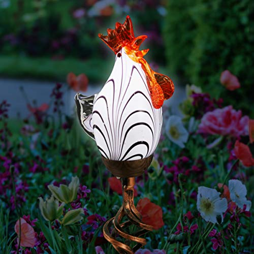 Metal Chicken Solar Light in US - 2