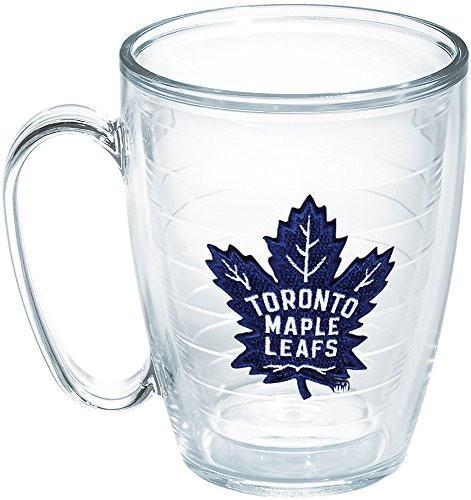 Tervis NHL Toronto Maple Leafs Emblem 16oz Mug with No Lid, Clear