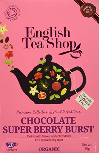 English Tea Shop - Chocolate Super Berry Burst - 20 Sachets - 30g (Super Chocolate)