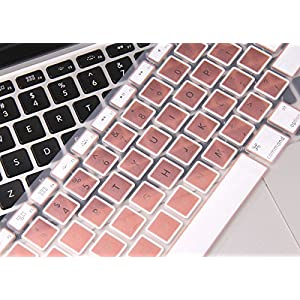 """Rose Gold MacBook Pro Keyboard Cover Skin for MacBook Pro 13"""" 15"""" 17""""(with or w/out Retina Display, 2015 or Older Version) and MacBook Air 13 Inch"""
