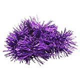 SODIAL(R) 2m (6.5 Ft) Christmas Tinsel Tree Decorations Tinsel Garland (purple)
