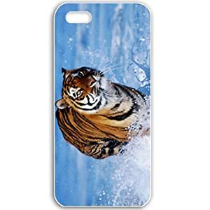 Apple iPhone 5 5S Cases Customized Gifts For Animals Tiger In Water Normal Birds Tigers Animals White