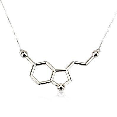 abdb7cffdafb0 Serotonin Necklace, Serotonin Molecule Necklace, Chemistry Necklace