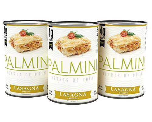 NEW Palmini Low Carb Lasagna | 4g of Carbs | As Seen On Shark Tank | 3 Unit Case 14 Oz.