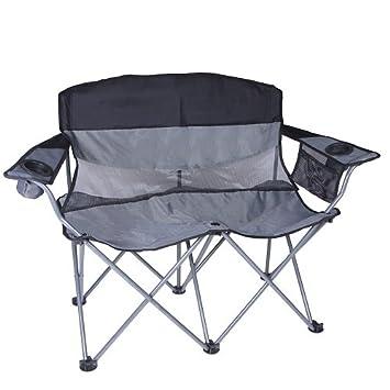 stansport apex double arm chair blacksilver