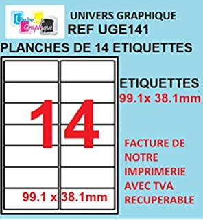 100 A4 hoja de etiquetas papel de etiquetas 14 99,1 x 38 mm de ...