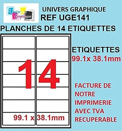 100 A4 hoja de etiquetas papel de etiquetas 14 99,1 x 38 mm ...