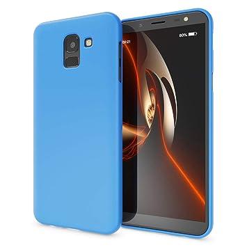 NALIA Neon Funda Compatible con Samsung Galaxy J6 2018, Carcasa Protectora Movil Silicona Ultra-Fina Gel Bumper Estuche, Goma Cubierta Telefono ...