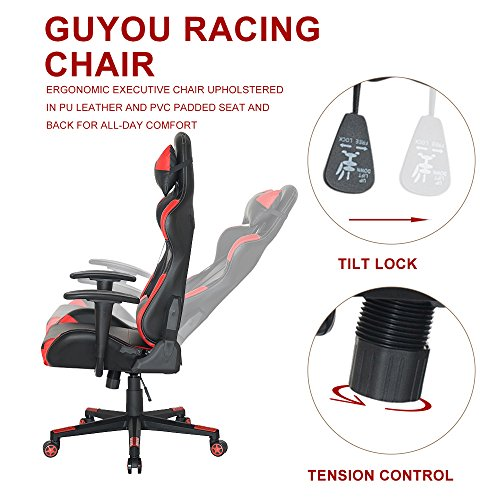 51 Bcg4j6vL - Guyou-Racing-Office-Chair-Executive-Swivel-Leather-Chair-Home-Gaming-Chair-Ergonomic-Design-Racing-Gaming-Chair-High-Back-Computer-Chair-With-Lumbar-Support-and-Headrest