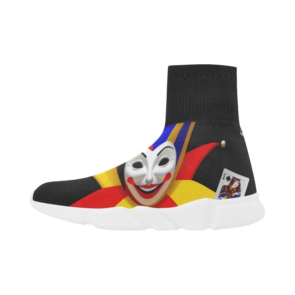 Leinterest Playing Cards Joker Unicorn Stretch Sock Shoes for Women