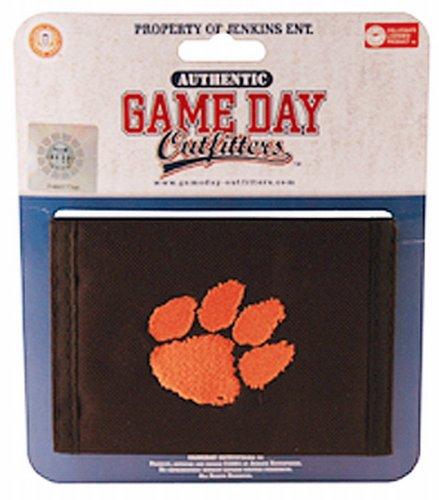 NCAA Clemson Tigers Mens Bi-Fold Wallet with Logo