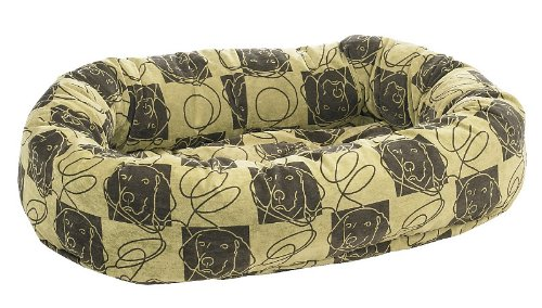 Bowsers Donut Dog Bed, Microvelvet Dog Days, Medium 35""