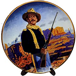 John Wayne , Hero of the West Franklin Mint Collectible Plate