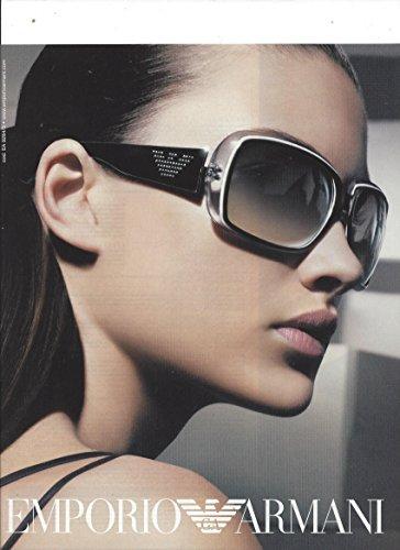 **PRINT AD** With Camilla Finn For Emporio Armani - Sunglasses Armanis