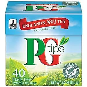 PG Tips Pyramid Bags, Black Tea 40 ct