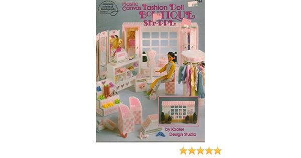 Booklet 3094 Plastic Canvas Fashion Doll Boutique Shoppe American School or Needlework Vintage 1991