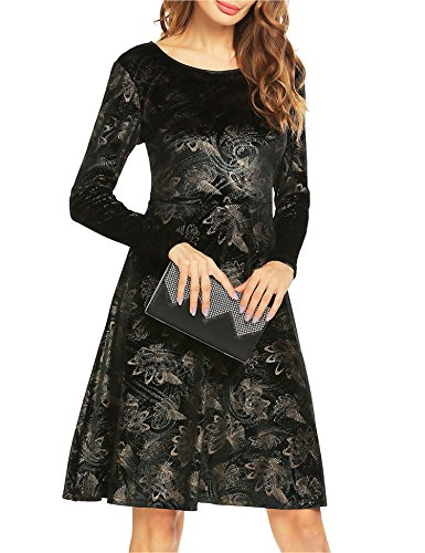 Velvet Long Sleeve Dress - 8