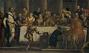 Oil painting 'Veronese Paolo (Workshop) Bodas de Canaan Ca. 1562 ' printing on polyster Canvas , 18 x 30 inch / 46 x 77 cm ,the best Living Room decor and Home decoration and Gifts is this Cheap but High quality Art Decorative Art Decorative Canvas Prints