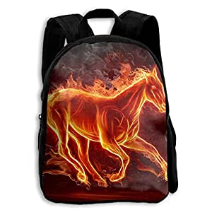 Fire Horse Pattern School Bag For 2-6 Years Old