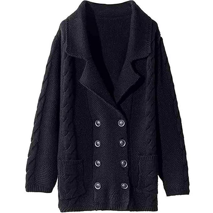 Suéter Abrigo Mujer, LANSKIRT Mujeres Suelto Cuello Bajo ...