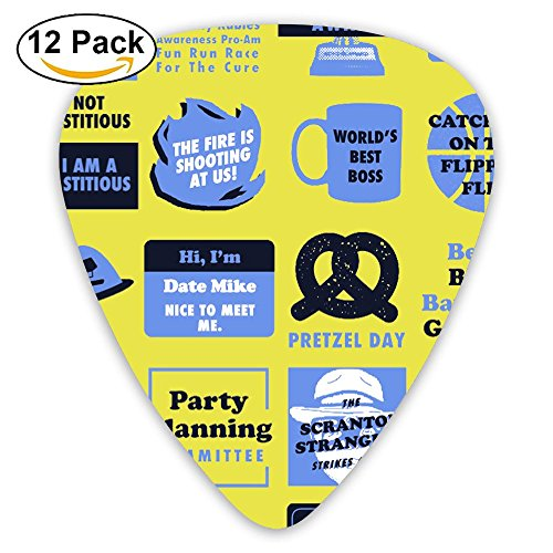 (Classic Guitar Pick (12 Pack) Office Unisex Quote Player's Pack For Electric Guitar,Acoustic Guitar,Mandolin,Guitar)